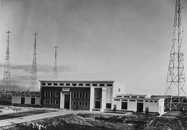 Palazzina trasmetttitori e antenne Onda Corta RAI anni 30