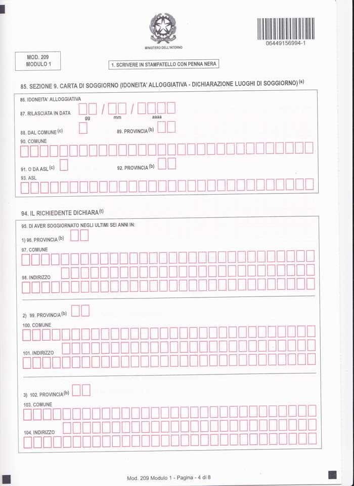 Best Aggiornamento Carta Di Soggiorno Modulo 1 Images - Idee ...